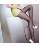 Sexy Sheer Side Floral Tights Pantyhose Leggings Black  - $19.90