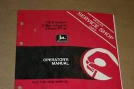 JD John Deere 1610 2-Bar Chisel Plow Operators Manual - $24.95