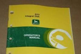 JD John Deere 620 Integral Disk Operators Manual - $24.95