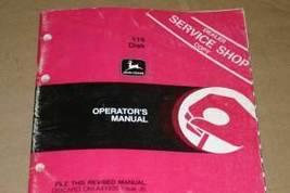 JD John Deere 115 Disk Operators Manual - $24.95