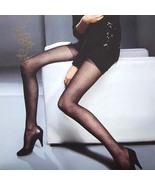 Sexy Sheer Velvet Plaid Tights Pantyhose Leggings Black - $19.90