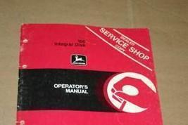 JD John Deere 100 Integral  Disk Operators Manual - $24.95
