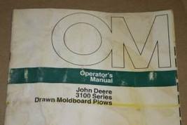JD John Deere 3100 Moldboard Plows Operators Manual - $24.95