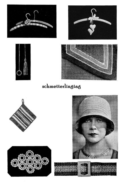 c1925 Flapper Crochet Book Millinery Make Cloche Hats DIY Making Hats Lacemaker