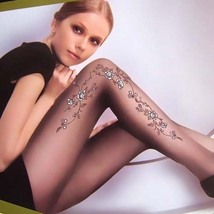 Sexy 20D Sheer Tights Floral Pantyhose Leggings Black  - $19.90
