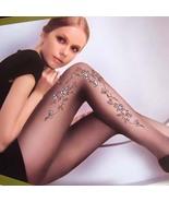 Sexy 20D Sheer Tights Floral Pantyhose Leggings Black  - $19.90