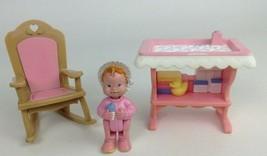Loving Family Dream Dollhouse Toys 3 Piece Baby Set Vintage 93 94 Fisher... - $24.90