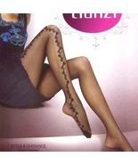 Sexy Sheer Tights Pantyhose Leggings Side Floral Black  - $19.90