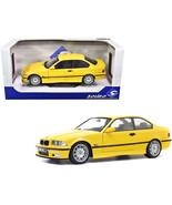 1994 BMW E30 M3 Jaune Dakar Yellow 1/18 Diecast Model Car by Solido S180... - $96.37