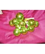 """1"""" VTG MERCURY GLASS Lime Green Bead Xmas Tree ... - $11.24"""