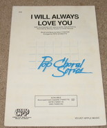I Will Always Love You Sheet Music Choral Whitn... - $9.99