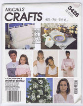 McCall's Crafts 3426 A Touch of 'Battenberg' Lace Ornaments Pattern   - $6.95