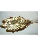 12 Vintage Gold Foil Christmas Holly Leaf Paper... - $10.39