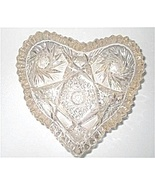 Vintage Crystal Glass Heart Shaped Candy Dish ARTCUT - $33.00