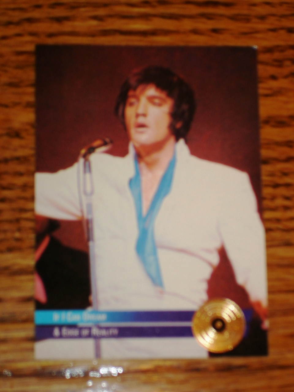 ELVIS PRESLEY IF I CAN DREAM GOLD EDITION COLLECTIBLE CARD #
