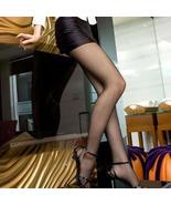 Lady Sexy Transparent Pantyhose Stockings Black Color - $12.90