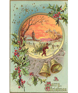 A Merry Christmas Vintage Tuck and Sons Post Card - $3.00