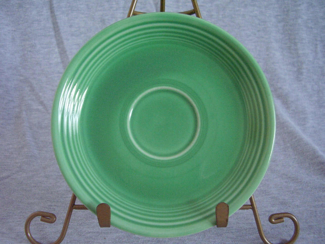 Vintage Fiestaware Original Green Saucer Fiesta  H