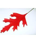 """6"""" RED VELVET Vintage Millinery Flower Oak Leav... - $10.58"""