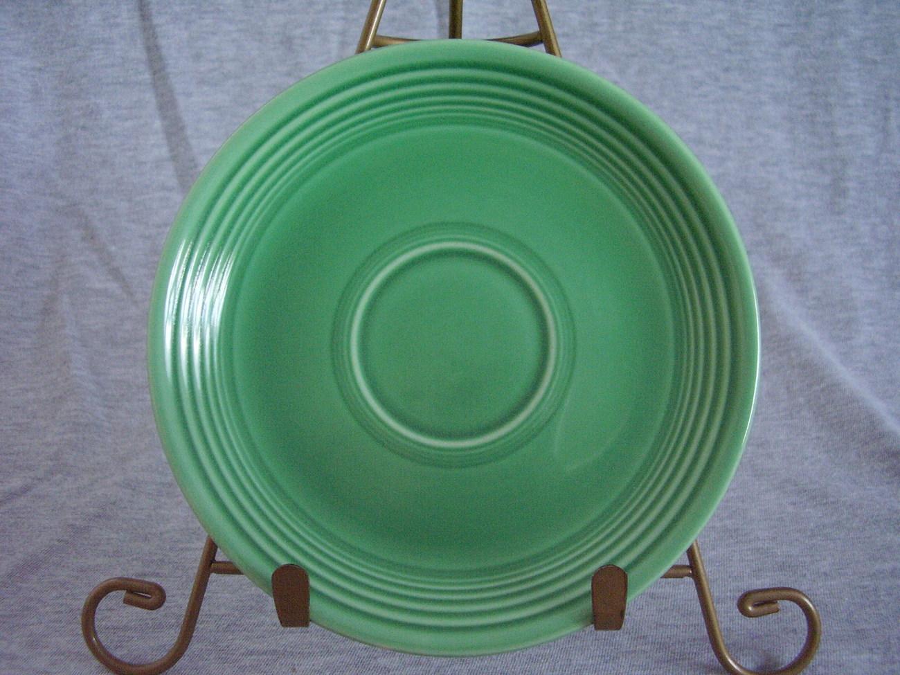 Vintage Fiestaware Original Green Saucer Fiesta  G