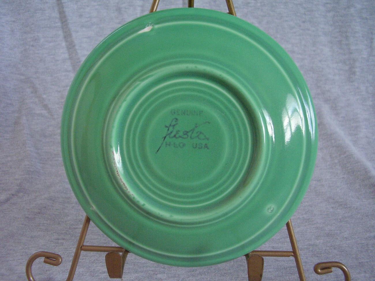 Vintage Fiesta Original Green Saucer  F