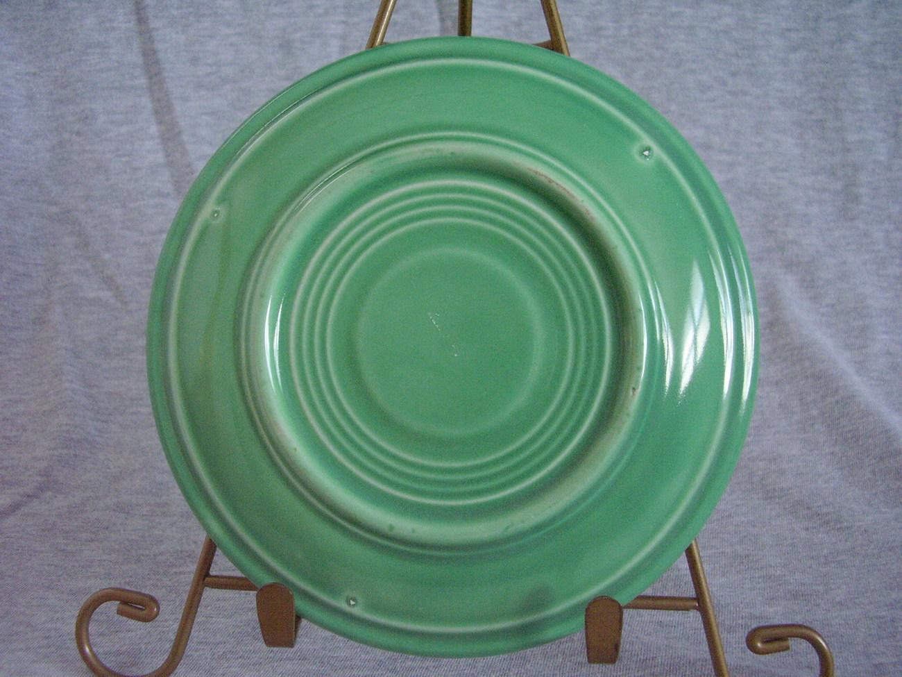 Vintage Fiestaware Original Green Saucer Fiesta  E