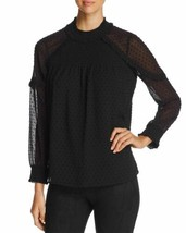Daniel Rainn Cold-Shoulder Swiss Dot Top (Black, XL) - $84.03