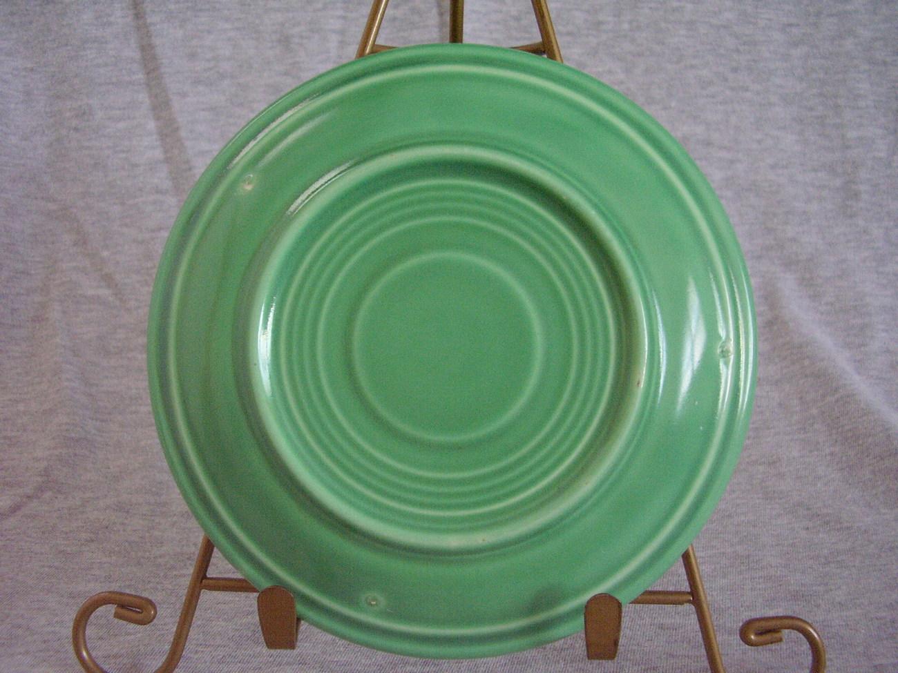 Vintage Fiestaware Original Green Saucer Fiesta  D