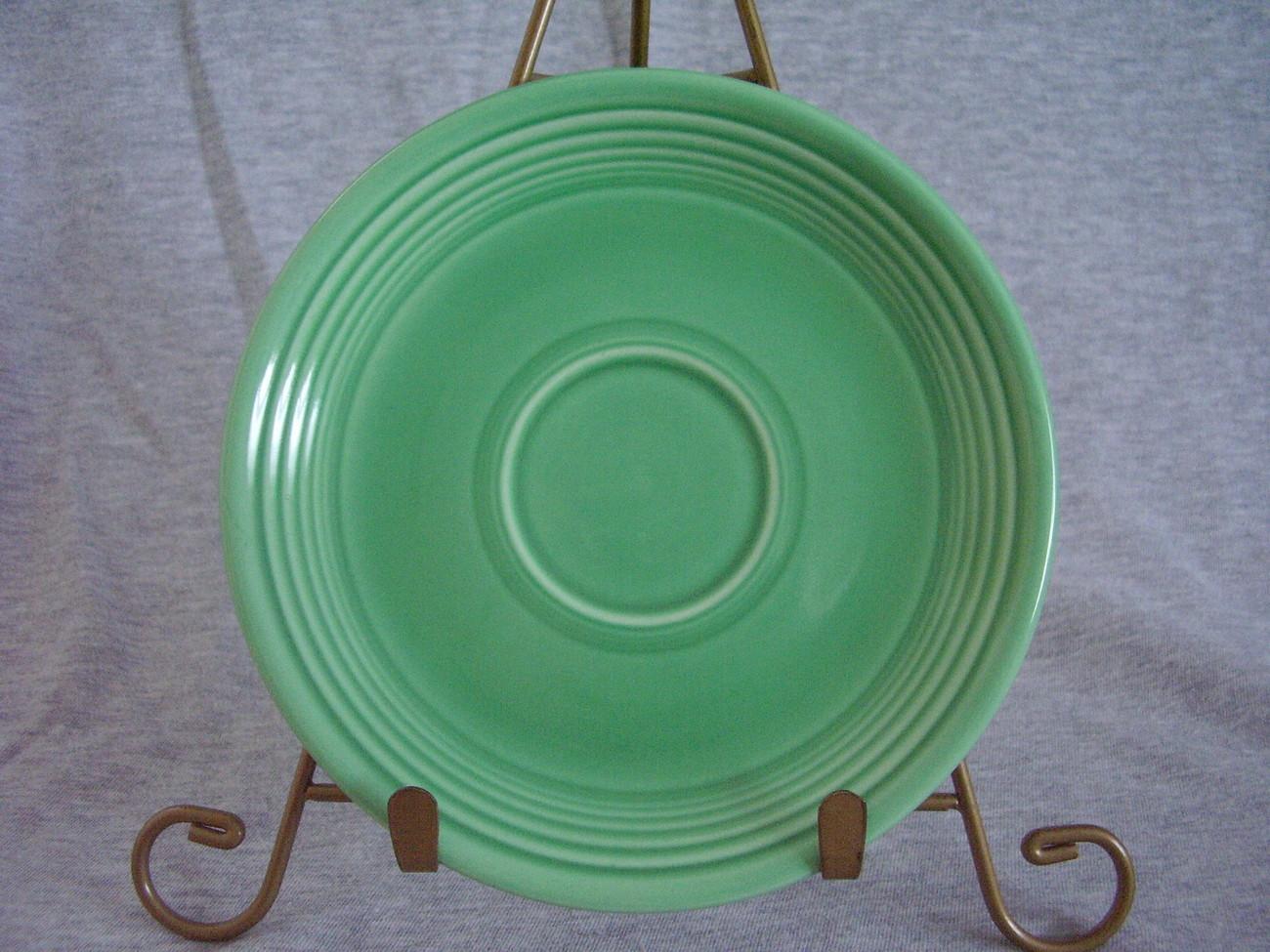 Vintage Fiestaware Original Green Saucer Fiesta  C