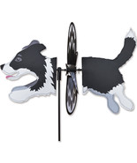 Border Collie Dog Staked Petite Wind Spinner 10- PR 25099 - $24.99