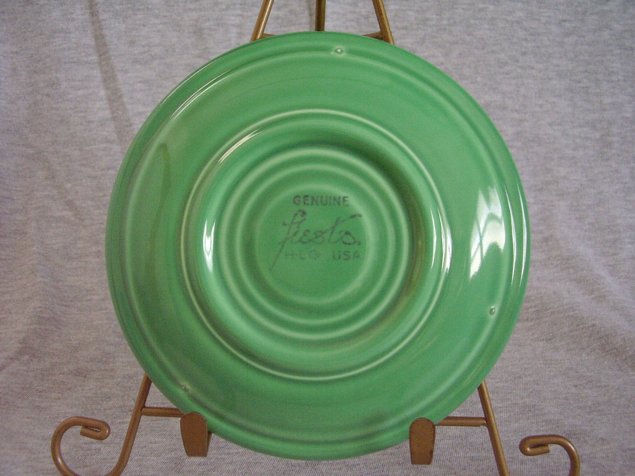 Vintage Fiestaware Original Green Saucer Fiesta  B