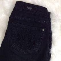 Rock & Republic Skull Pockets Berlin Skinny Black Stretch Jeans Size 26 ... - $13.96