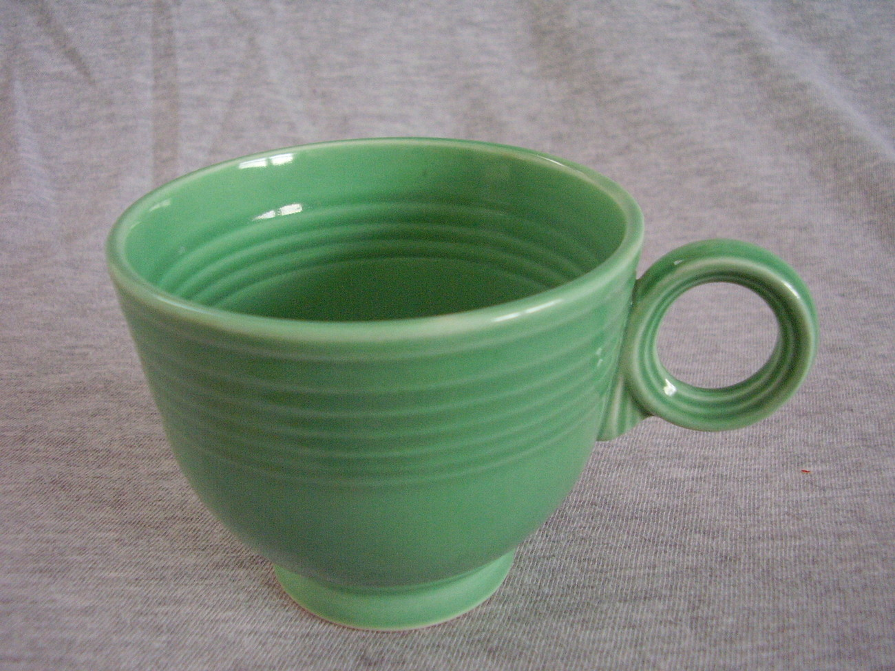 Vintage Fiestaware Original Green Ring Handle Teacup C