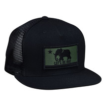 LET'S BE IRIE Trucker Hat - California Irie Flag, Black Snapback - £15.43 GBP