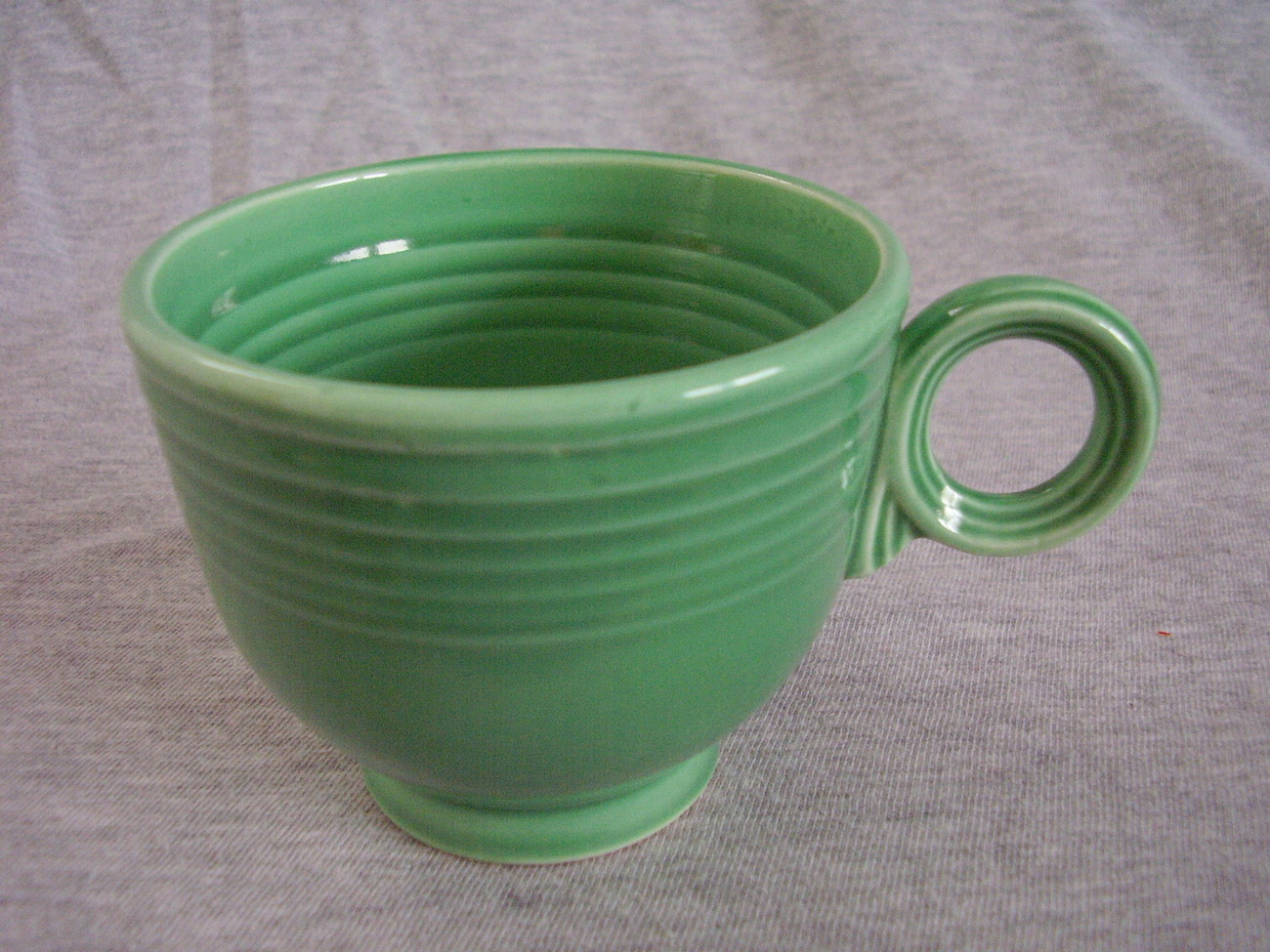 Vintage Fiestaware Original Green Ring Handle Teacup B