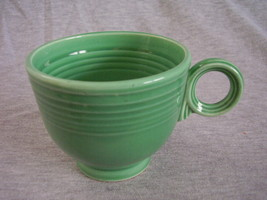 Vintage Fiestaware Original Green Ring Handle Teacup B - $27.54