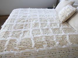 Best Offer X LARGE Size Beautiful Moroccan Wedding Blanket (Handira) Handira Bla - $169.00