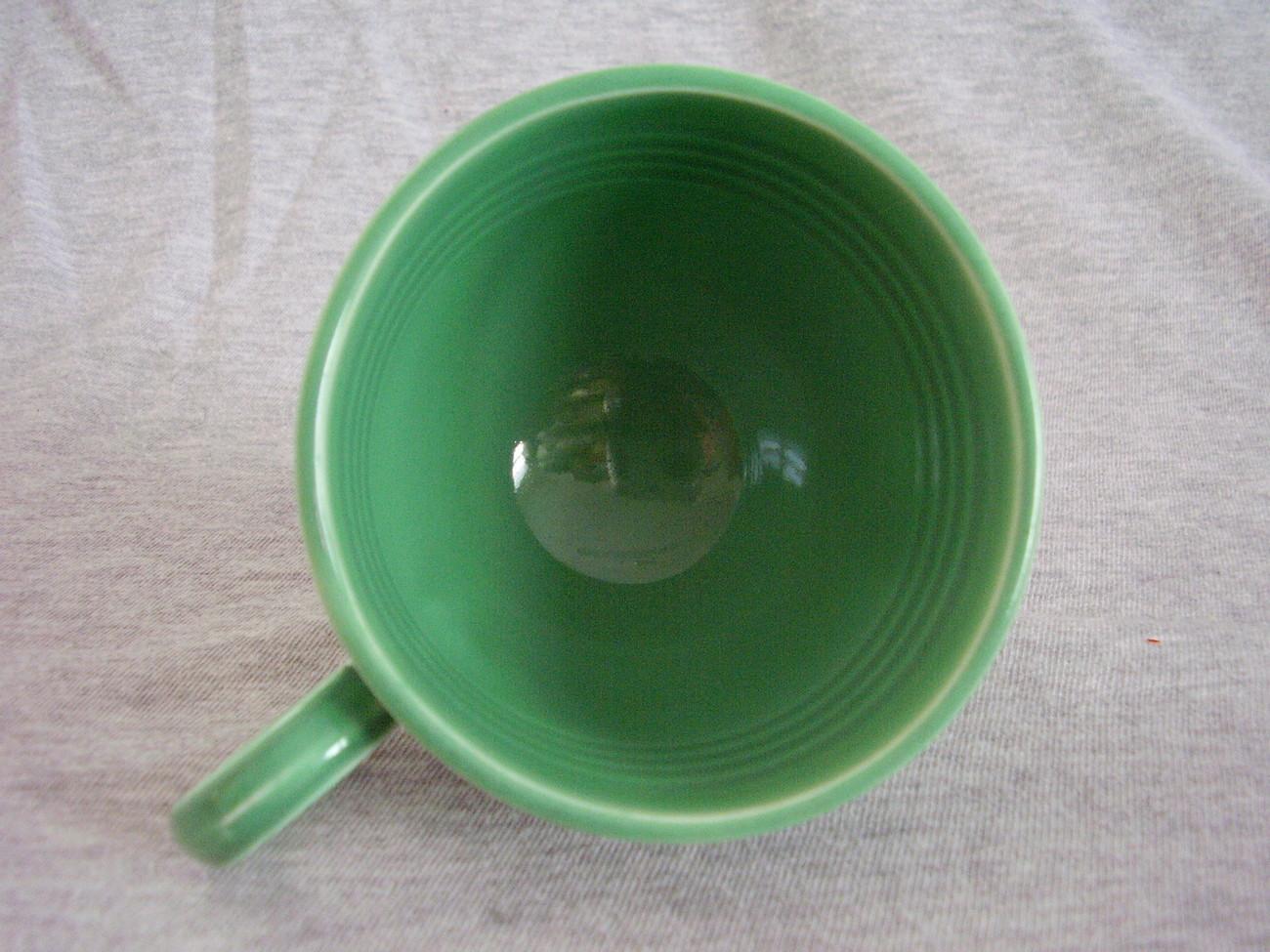 Vintage Fiestaware Original Green Ring Handle Teacup A
