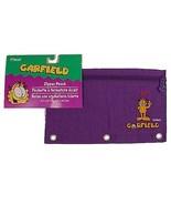 Garfield PAWS Purple Nylon Mead Zipper Pencil Pouch Kids Back to School ... - $8.95