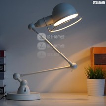 Vintage Industrial Atelier Scissor Table/ Desk Lamp E27 Bulb Black/ Whit... - $258.00