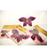 Real Feather Butterfly Clip Hat Hair Millinery ... - $12.93
