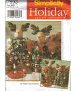 "Simplicity 7893 22"" Stuffed Reindeer Doll Clothes Pattern - $7.95"