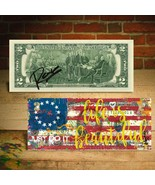 BETSY ROSS FLAG 1776 Signed Rency Art $2 Bill - LTD and S/N of 1776 - JU... - $18.65