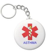 2.25 Inch *Alert* Asthma Medical Keychain - $2.75