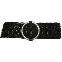 NWT RALPH LAUREN Black Hemp Leather Macrame O-R... - $59.99