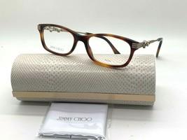 Jimmy Choo Eyeglasses Jc 211 086 Dark Havana 52-17-140MM Italy Case& Cloth - $77.15