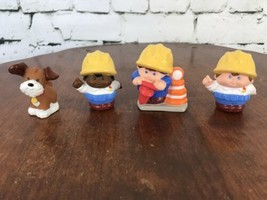 Little Tikes Play People Construction People And Dog Lot Of 4 Max Robbie... - $12.47