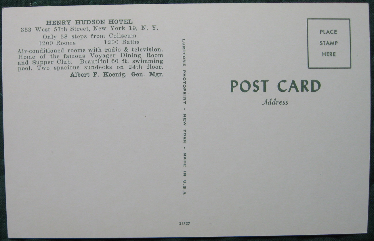 Lumitone, Full Bleed , Photochrome postcard, Henry Hudson Ho
