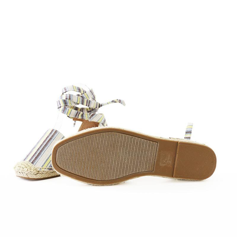 layout linen tie ankle espadrille flat sandal image 6