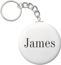 2.25 Inch James Name Keychain (Style 1) - $2.75